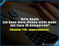 Und Vorsicht beim Augenbrauen aufmalen :P #iPhone #iPhone8 #iPhoneX #Face-ID #FaceID