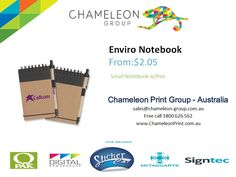 Enviro Notebook - Chameleon Print Group	  http://chameleonprint.com.au/product/enviro-notebook/