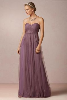 Annabelle Bridesmaid Dress in Plum Purple from BHLDN. Designed by Jenny Yoo.