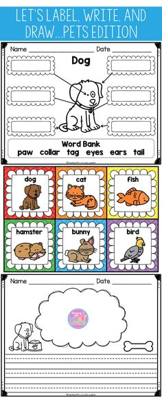 All of the activities in this pack integrate labeling, writing, and drawing.