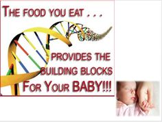 The #food you eat provides the #building #blocks for your Baby