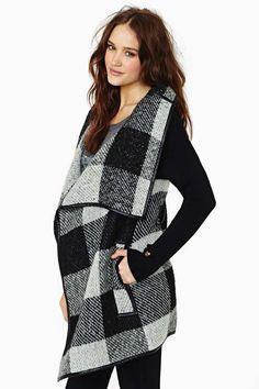 Plaid wrap coat- such a great price!