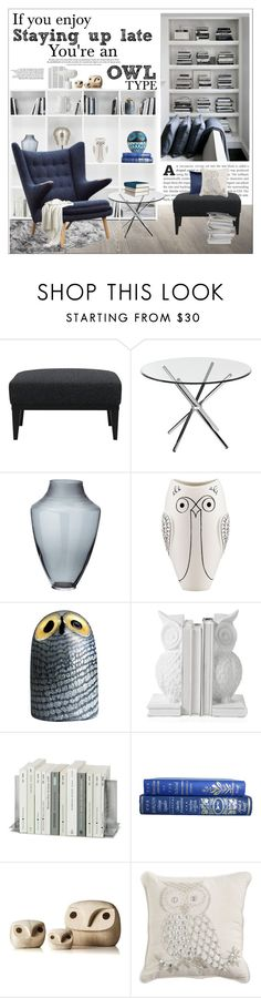 """""""Reading Nook for Owls"""" by szaboesz ❤ liked on Polyvore featuring interior, interiors, interior design, home, home decor, interior decorating, Crate and Barrel, Bellini Modern Living, Lazy Susan and Kate Spade"""