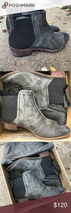 Free People Boots These boots run really small and don't fit me • they say size 9, but it's more like a 7 1/2 • they are black and have a stretchy fabric around the sides of the ankle • Free People • Brand new • Free People Shoes Ankle Boots & Booties
