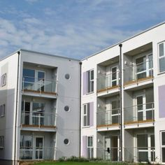 Energy efficient rainscreen cladding forms the facade of these 23 properties. Order ProWall rendered rainscreen cladding direct from the UK manufacturer. Rainscreen Cladding, Affordable Housing, Energy Efficiency, Facades, Multi Story Building, Exterior, House, Ideas, Energy Conservation