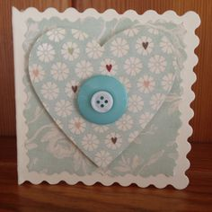Heart card with button