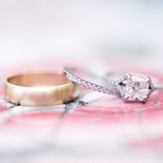 Wedding rings // Emily Steffen Photography // Rings: JB Hudson Jewelers // http://www.theknot.com/weddings/album/a-vintage-shappy-chic-wedding-in-minneapolis-mn-133351