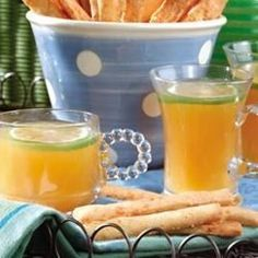 Pineapple juice, apricot nectar and limeade concentrate are combined with lemon-lime soda.