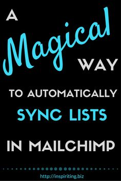 How can you sync subscribers between your lists in MailChimp automatically? Repin this and click through to find a tutorial on how to setup a syncing automation between lists of your choice in MailChimp