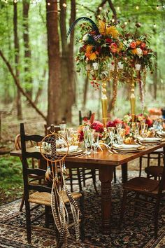 boho outdoor fall wedding #outdoorwedding #bohobride #bohowedding