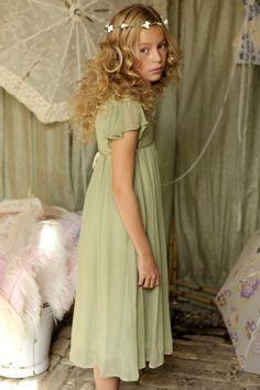 Emma Dress - Sage Green - Flower Girl Dresses - Special Occasion