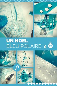 1000 images about no l bleu polaire christmas polar for Deco table noel bleu et blanc