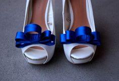 ślub - dodatki-Kokardy Kobalt Extravaganza - klipsy do butów