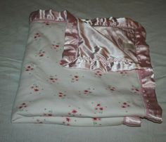 Carters Pretty in Pink White Flowers Baby Blanket Bows Satin Edge Back Lovey #Carters Pink And White Flowers, Pink White, Baby Blankets, Pretty In Pink, Bows, Satin, Ebay, Fashion, Arches