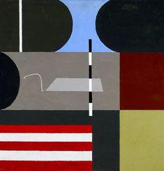 "Twentieth Century British Art by Kenneth Rowntree: ""Putney Garden, Painting & Drawing, Modern Art, 1960s, Abstract Art, Fine Art, Drawings, Artist, Board, Gardens"