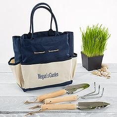 Superior My Garden Personalized Garden Tote And Tools