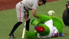 We miss mascots (and Hunter Pence), so why not GIF some of their best moments from 2014? Like when Hunter Pence gave the Phanatic CPR