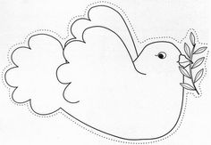 Sewing Appliques, Applique Patterns, Coloring Sheets, Coloring Pages, Peace Crafts, Harmony Day, Peace Dove, Embroidery Works, Holiday Crafts For Kids