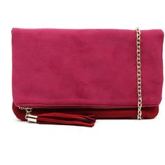 I Love Billy HBG101702 Pink/Red ($42) ❤ liked on Polyvore featuring bags, handbags, clutches, imitation purses, evening purse, red purse, special occasion handbags and pink purse