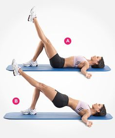 Single-Leg Hip Raise http://www.womenshealthmag.com/fitness/best-butt-exercises?slide=3