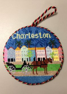 "Silver Needle ""Charleston"" needlepoint ornament"