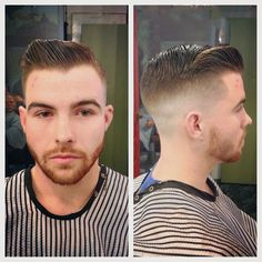 Fade slick, not so much volume up top but vlose