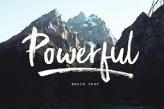 Powerful Marker, texture, Brush font by Studio&Story on @creativemarket