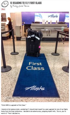 Ever wonder if the upgrade to first class is worth it when you fly? Here are 12 reasons to fly first class, but one of these in particular seals the deal... via FunkyJunkInteriors.net