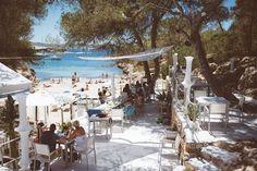 Charming Ibiza Chiringuito Takes Beach Fare to New Heights Ibiza Travel, Spain Travel, Ibiza Trip, Places Around The World, Travel Around The World, Ibiza Strand, Ibiza Restaurant, Places To Travel, Places To Go