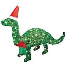 animated tinsel dinosaur christmas decorations - Dinosaur Christmas Decorations