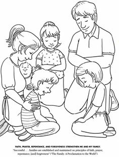 LDS Games - Color Time - Praying (Lots of coloring pages on this website)