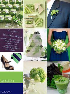 blue green wedding colour, navy