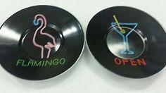 Flamingo Black Dish Elite Decor 2 Piece Set