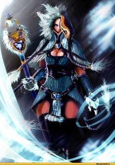 #Dota2 Dota 2,фэндомы,Crystal Maiden,песочница,Dota,Dota Art,Rylai the Crystal Maiden