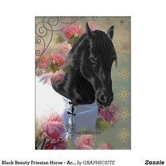 Black Beauty Friesian Horse - Acrylic Art Photo Composition, Friesian Horse, Acrylic Art, Black Beauty, Horses, Canvas, Digital, Artwork, Poster