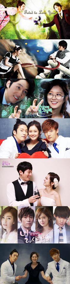 Fated to Love You(운명처럼 널 사랑해) Kdrama (2014) - 20 episodes - Jang Hyuk / Jang Na-Ra / Choi Jin-Hyuk / Wang Ji-Won