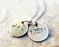 A personal favorite from my Etsy shop https://www.etsy.com/listing/101093866/wedding-necklace-save-the-date-bride-and
