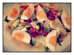 Smoked Salmon and Egg Salad with a Lime Vinegar Dressing