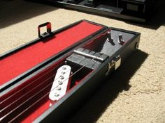 Make a Lap Steel Guitar Out of a Pool Cue Case Lap Steel Guitar, Cue Cases, Pool Cues, Cigar Box Guitar, Guitar Lessons, Ideas, Thoughts