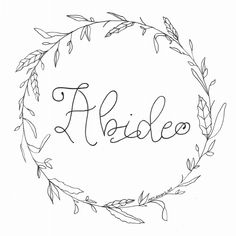 The Abide Wreath is one of the many FREE downloads available in the MRS designs Faith-Building Library.