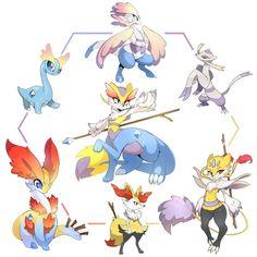 Epic Pokemon Fusion Chat | Amaura Mienshao Braixen Hex by Slugbox