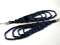 bugle bead dangle earrings