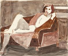 "lawrenceleemagnuson: ""Richard Diebenkorn (USA 1922-1993) Untitled, 1967 gouache and graphite on paper 35.2 x 43.2 cm """