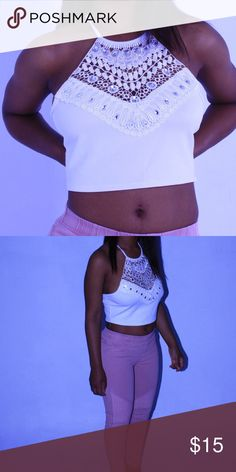 Glam top Brand new 95% spandex 5% nylon Tops Crop Tops