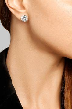 Bottega Veneta   Oxidized sterling silver cubic zirconia earrings   NET-A-PORTER.COM