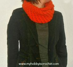 Crochet Infinity Scarf Doris- Free Written and Charted Pattern