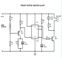 Door bell circuit using NE555 - Electronic Circuits and Diagram ...