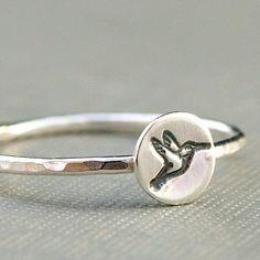 Hummingbird Ring Hummingbird Jewelry von CatherineMarissa auf Etsy