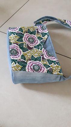 Sac Mambo jeans de récup et fleurs de Sev - patron Sacôtin