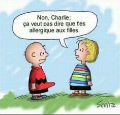 Humour Charlie Brown: Allergie coquine